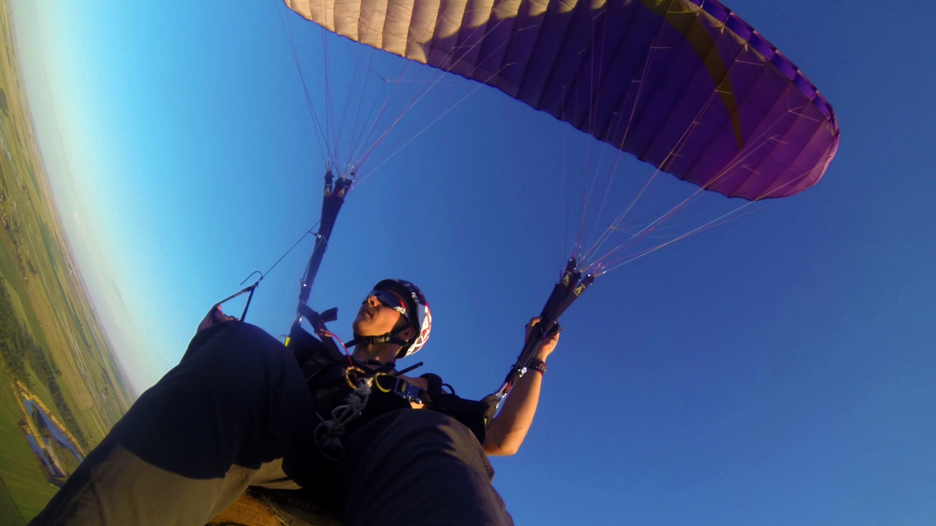 Paul Teasdale paragliding in South Africa