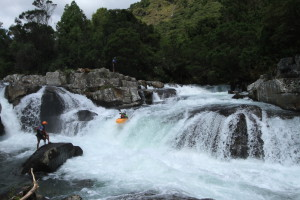 Shane running a nice drop on the Gairezi river in Zimbabwe