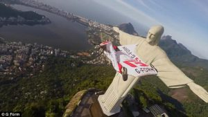 Jamie Flynn Christ the redeemer wingsuit
